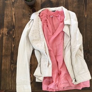 Old Navy - 100% Cotton - Pink Tank Blouse - XL